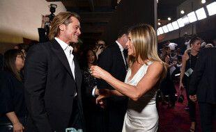 Les ex-époux Brad Pitt et Jennifer Aniston lors des Screen Actors Guild Awards en janvier 2020