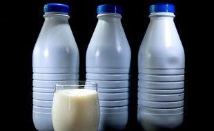 Des bouteilles de lait (image d'illustration).