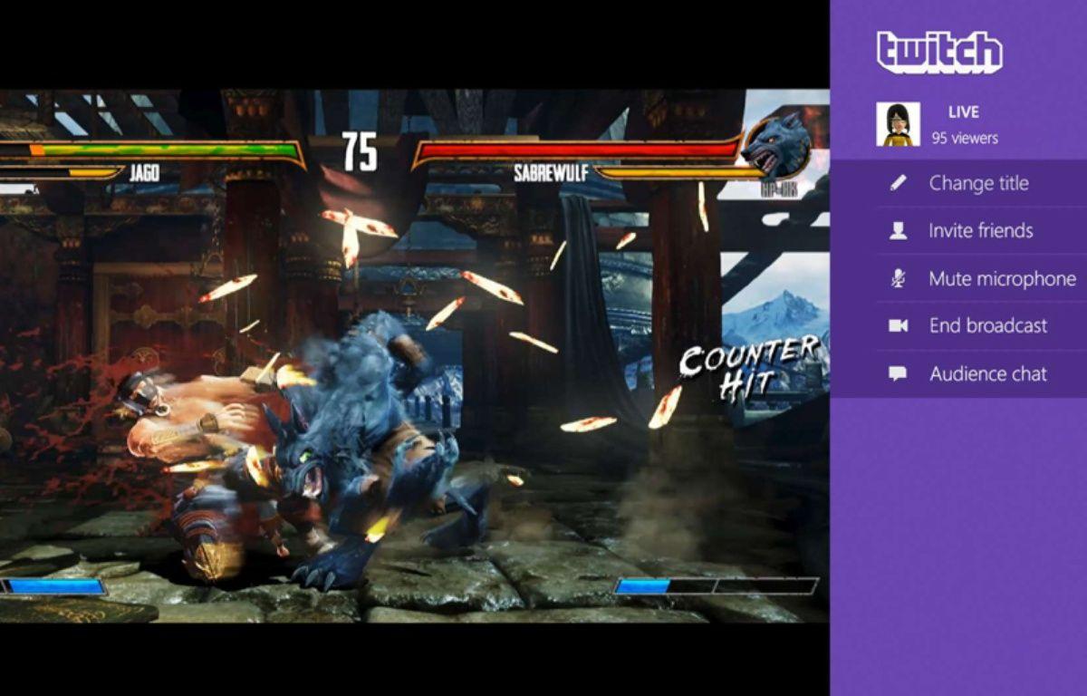 L'application Twitch sur la console Xbox One. –  AP/SIPA