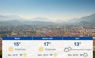 Météo Grenoble: Prévisions du jeudi 17 octobre 2019