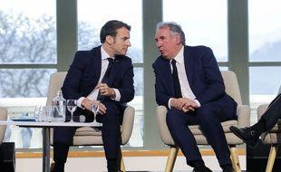 Emmanuel Macron et François Bayou récemment à Pau.