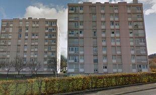 L'immeuble où un incendie s'est déclaré rue de la Pelouse à Besançon. Capture d'écran Google street view, Google Map