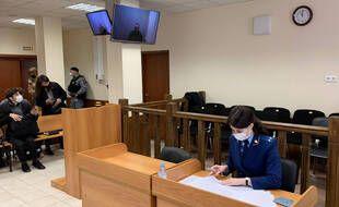 Une photo du tribunal lors du procès en appel d'Alexeï Navalny le 29 avril 2021.