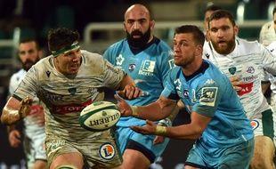 Le demi d'ouverture sud-africain Handre Pollard (à droite) est la dernière grosse recrue en date du Montpellier Rugby.