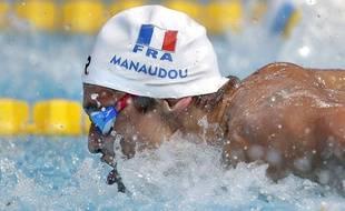 Florent Manaudou aux championnats du monde de natation le 2 août 2015.