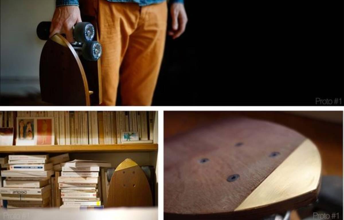 Le Skëtt Pocket est un skateboard pliant développé pour le concours Make It Happen.  – Skëtt Pocket