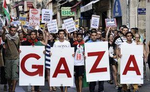 Manifestation pro-palestinienne à Montpellier le 23 juillet.