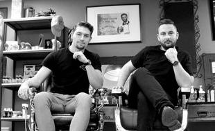 Robin Tauer (à gauche) et Vincent Bois, les deux créateurs de la marque de cosmétiques pour hommes Robin Tauer