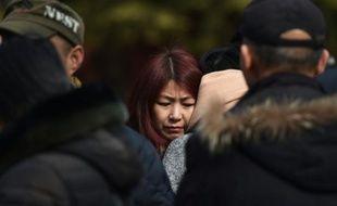 Des parents de passagers du vol MH370 de la Malaysia Airlines, disparu en vol, se retrouvent le 8 mars 2016 à Pékin pour le 2ème anniversaire de cette catastrophe aérienne qui reste un mystère