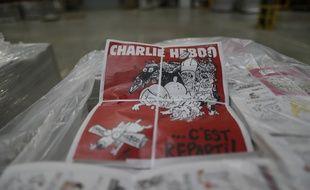 Le numéro 1179 de Charlie Hebdo.AFP PHOTO KENZO TRIBOUILLARD