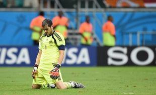 Iker Casillas lors de la défaite contre les Pays-Bas, 5-1, le 13 juin 2014.