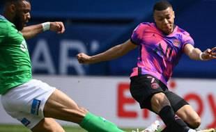 Killian MBappé enfonce le score face à Saint Etienne, le 18 avril 2021.