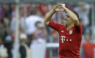 Franck Ribéry avec le Bayern Munich, le 6 octobre 2012