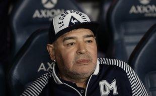 Diego Maradona le 7 mars 2020 à la Bombonera, le stade de Boca Juniors à Buenos Aires.