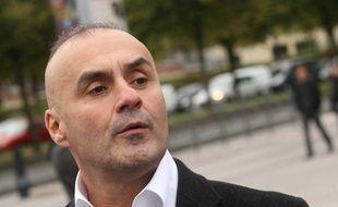 Serge Ayoub, le fondateur des Jeunesses nationalistes révolutionnaires (JNR), le 8 octobre 2011, à Lille.
