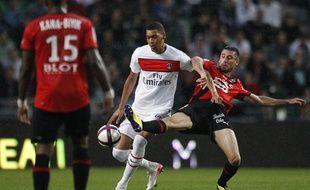 L'attaquant du PSG Guillaume Hoarau à Rennes, lors de la deuxième journée de L1, le 13 août 2011, à Rennes.