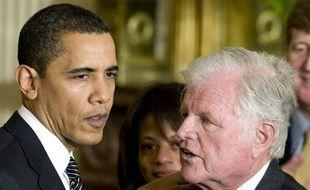 Barack Obama et le sénateur Ted Kennedy, le 5 mars 2009.