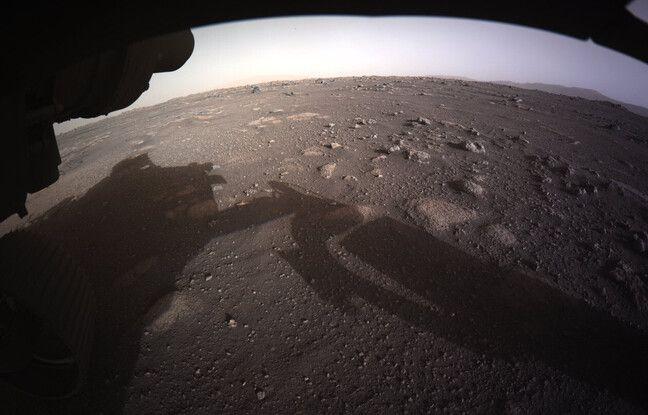 Photo prise par le rover de la Nasa Perseverance à la surface de Mars le 18 février 2021.
