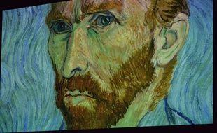 Autoportrait de Van Gogh lors de l'exposition «Van Gogh Alive The Experience», à Mexico, le 18 février 2020.