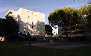 Vue le 23 octobre 2014 du quartier d'Abrivado, à Lunel (Hérault), d'où venaient au moins quatre jeunes hommes morts en Syrie fin 2014