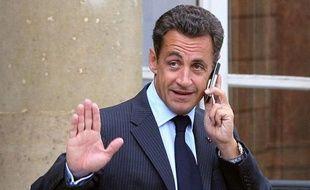 Nicolas Sarkozy à l'Elysée, le 27 août 2007