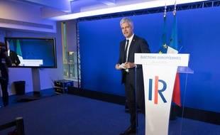 Laurent Wauquiez, président LR, le 26 mai 2019 après la publication des premiers résultats.