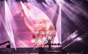 Le DJ Fatboy Slim sur scène à l'Isle of Wight Festival en juin 2019