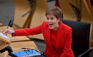 La Première ministre écossaise Nicola Sturgeon, le 30 décembre 2020 à Edimbourg.