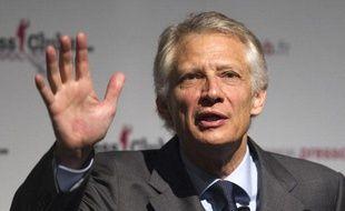 Dominique de Villepin, le 13 décembre 2011, lors d'une conférence de presse à Paris.