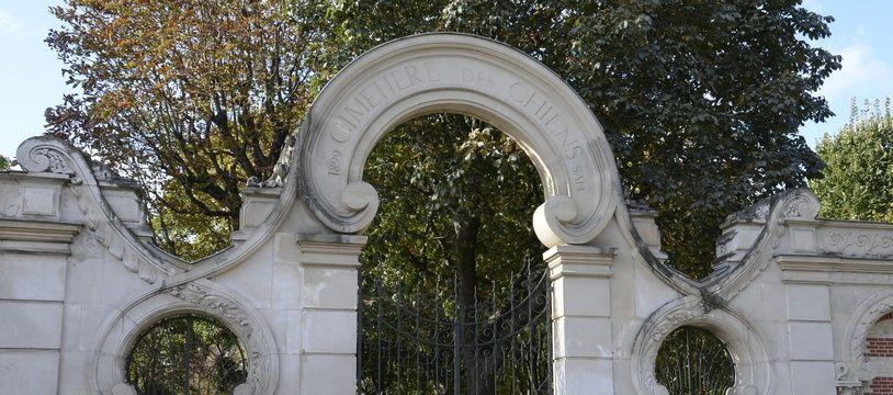 L'entrée du cimetière pour animaux