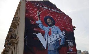 Une affiche géante de Soprano a été installée le 7 février 2019, à Marseille.