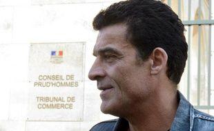 Xavier Mathieu, ex-leader de la CGT chez Continental, le 30 août 2013 à la sortie du tribunal de Commerce de Compiègne