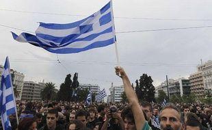 Manifestations en Grèce à Athènes contre le plan de rigueur du gouvernement le 27 mai 2011.