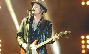 Le rockeur anglais Pete Doherty sur scène au festival Leeds au Royaume-Uni le 28 août 2015.