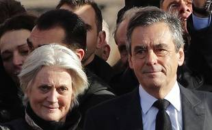 Penelope et François Fillon, le 5 mars 2017 au Trocadéro à Paris