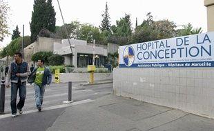 L'entrée de l'Hôpital de la Conception à Marseille