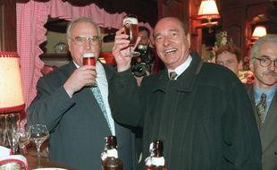 En 1995, Jacques Chirac réserve sa première visite en tant que président de la République au chancelier allemand Helmut Kohl, à Strasbourg, « Chez Yvonne ».
