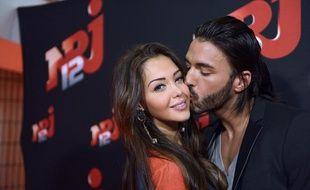Nabilla Benattia et Thomas Vergara, le 21octobre 2013à Paris.