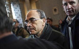 Le cardinal Barbarin à son arrivée à la cour d'appel de Lyon.