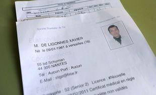 La fiche de renseignement policière de Xavier Dupont de Ligonnès en 2011. (archives)