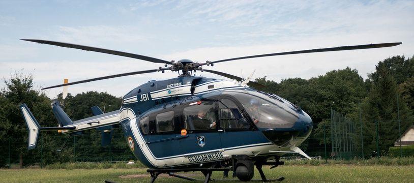 Un hélicoptère EC-135 de la gendarmerie française.