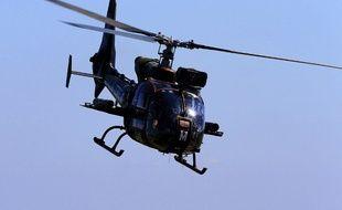 Hélicoptère Gazelle, illustration.