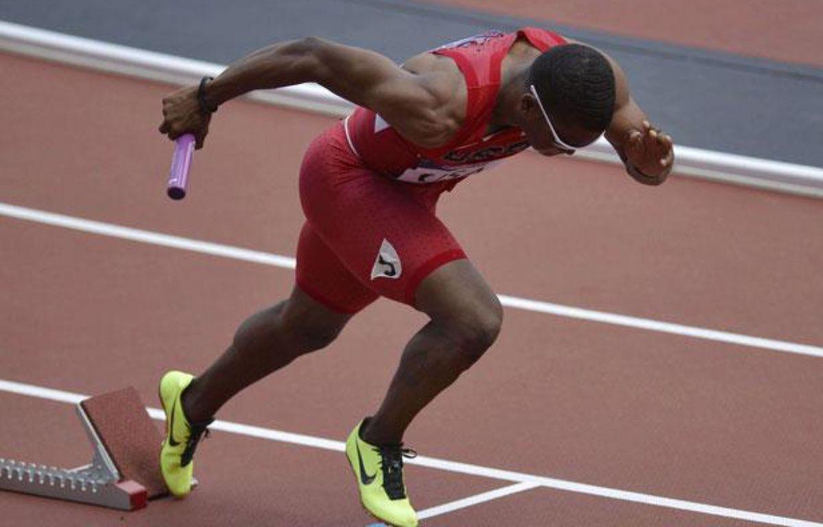 Manteo Mitchell, au départ du relais 4x400m, le 9 août 2012 à Londres. – Martin Meissner/AP/SIPA