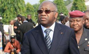 Laurent Gbagbo, le 4 février 2011, à Abidjan (Côte d'Ivoire).
