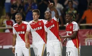 Les joueurs de l'AS Monaco lors de leur victoire contre Berne (4-0), le 4 août 2015, à Louis-II.