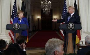 Donald Trump a reçu Angela Merkel à la Maison Blanche le 27 avril 2018.