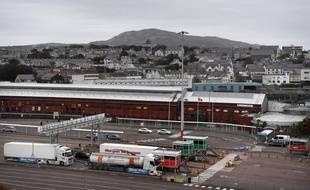 Le port d'Holyhead, par lequel serait arrivé le camion en Grande-Bretagne. (archives)