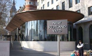 Le siège de Scotland Yard à Londres le 3