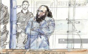 Abdelkader Merah lors de son procès.