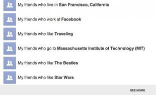 Facebook a présenté un nouvel outil de recherche sociale, le 15 janvier 2012.